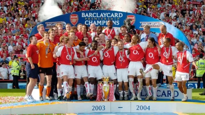 Arsenal's last title was the 2003/04 Invincibles season