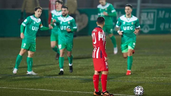 Atletico Madrid suffer shock Copa del Rey defeat to third tier Cornella