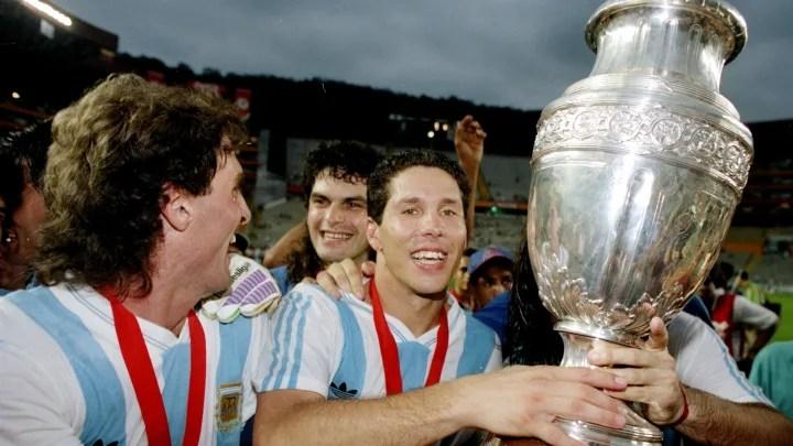 Diego Simeone of Argentina