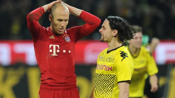 Neven Subotić del Dortmund le deja saber a Robben lo que piensa del penalti fallado