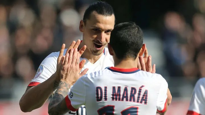 Zlatan Ibrahimovic, Angel Di Maria