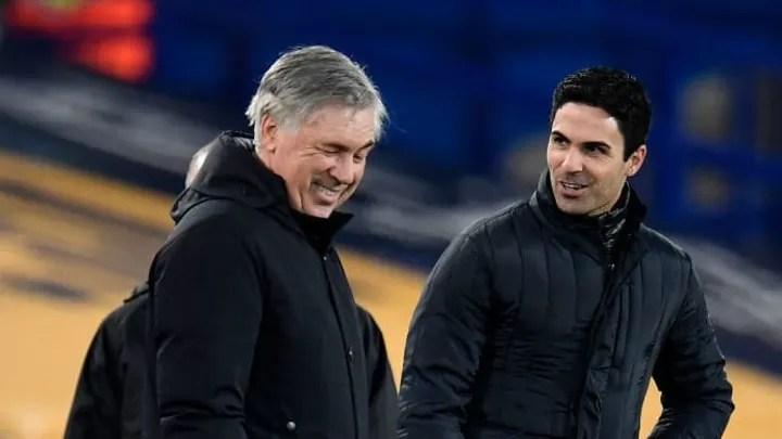 Mikel Arteta, Carlo Ancelotti