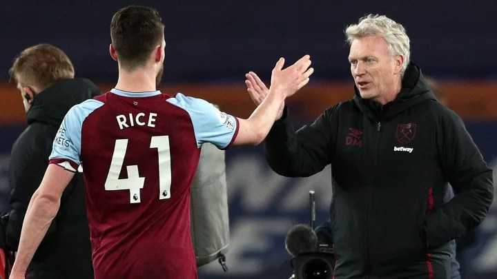 David Moyes insists West Ham have not spoken with Chelsea or Man Utd over Declan Rice