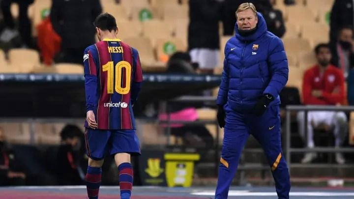 Ronald Koeman responds to Lionel Messi's two-game suspension