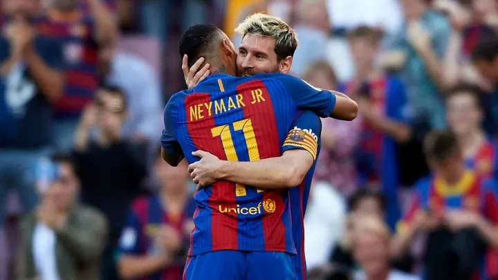 Neymar and Messi at FC Barcelona