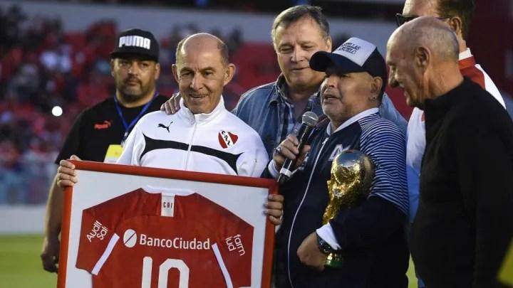 Daniel Bertoni, Ricardo Bochini, Diego Maradona, Miguel Santoro, Ricardo Pavoni