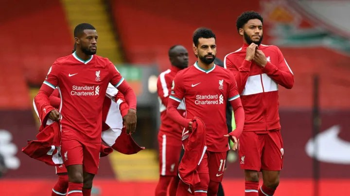 Georginio Wijnaldum, Mohamed Salah, Joe Gomez