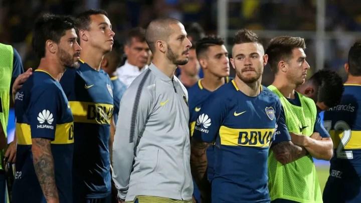 Pablo Perez, Leonardo Jara, Dario Benedetto, Nahitan Nandez