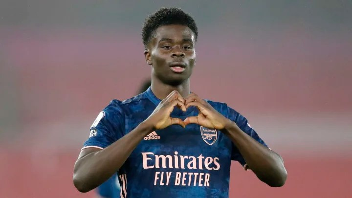 Bukayo Saka continues to flourish in new role in Arsenal's win at Southampton
