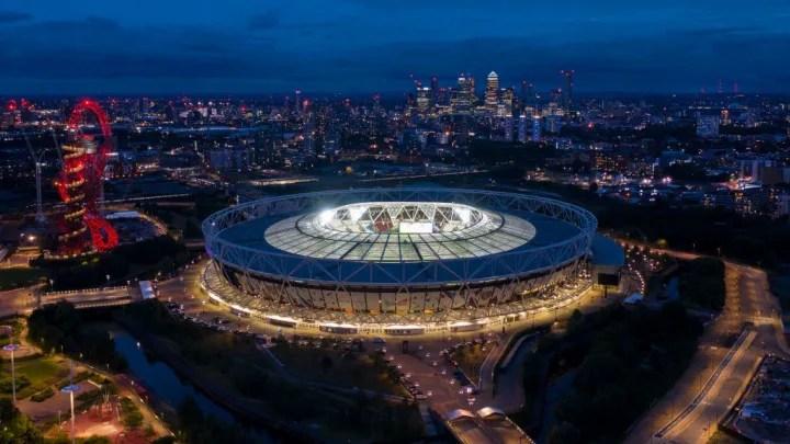 El estadio de Londres ...