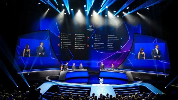 Inicio de la temporada de fútbol de clubes europeos de la UEFA 2019/2020 - Sorteo de la UCL