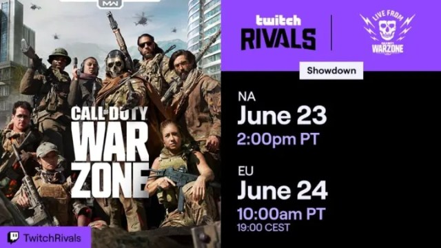 The Twitch Rivals Warzone Showdown pits top streamers against one another.