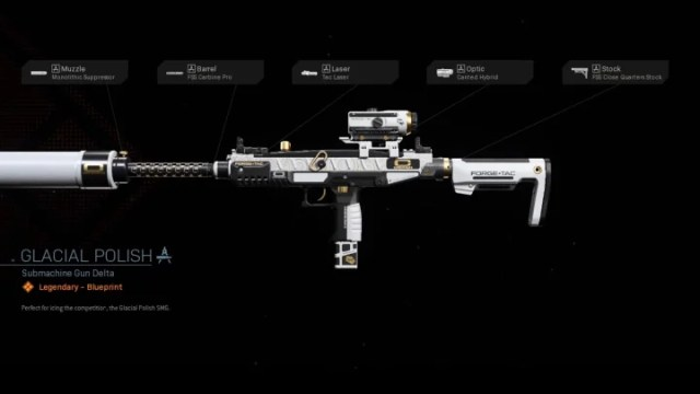 Glacial Polish Warzone Blueprint is a legendary blueprint available for the Uzi that can be unlocked at level 42 of the purchased Season 4 Battle Pass