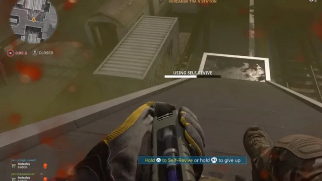 A Warzone self-revive trick allows players to survive the gas in the late game. While playing a late game scenario, Reddit user Unknow_Gamer found a g