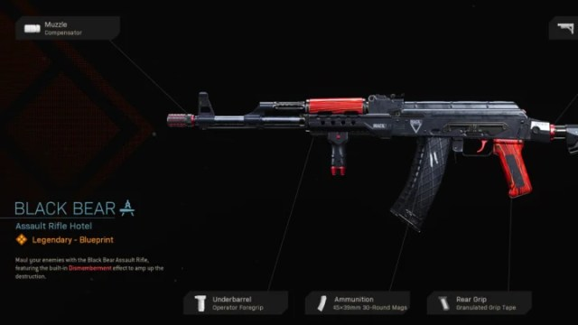 Black Bear Blueprint Warzone is a variant of the popular AK-47 assault rifle.