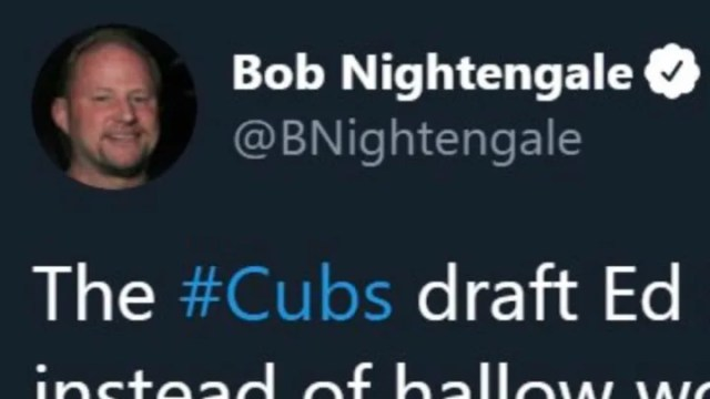 MLB writer Bob Nightengale had a questionable tweet about the Chicago Cubs' first-round pick.