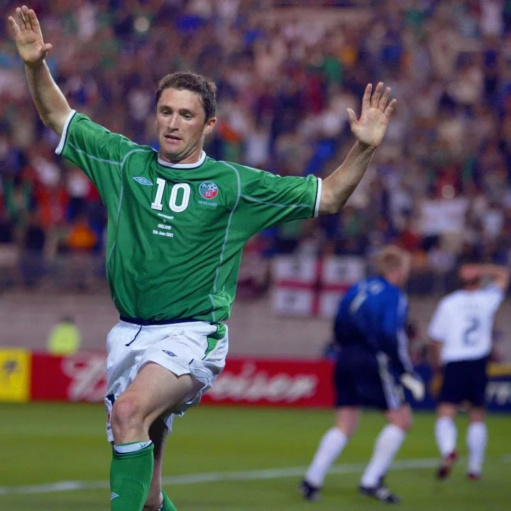 Keane celebrates one of his many goals