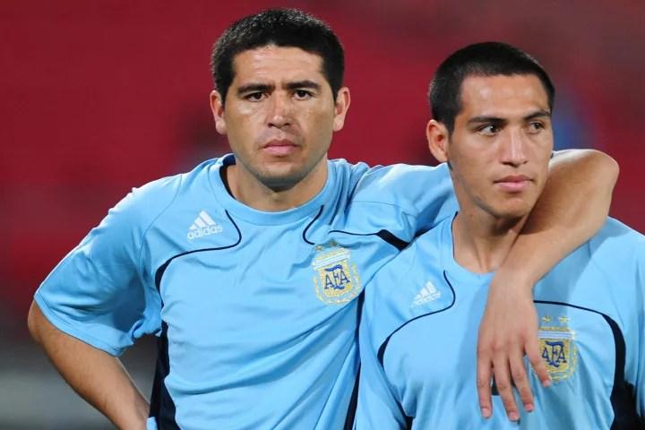 Argentina's Boca Juniors players, midfie