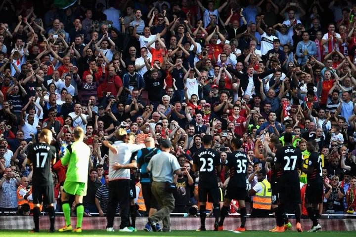 Il Liverpool ha ringraziato i tifosi in trasferta dopo una vittoria ad alto punteggio nella giornata di apertura