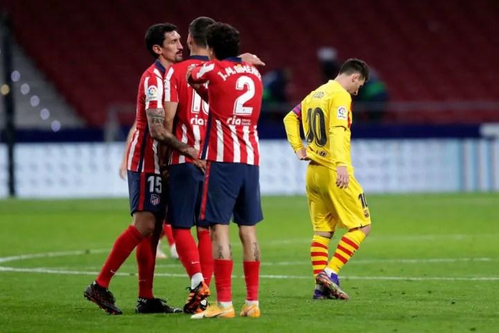 Lionel Messi, Stefan Savic, Jose Gimenez, Felipe