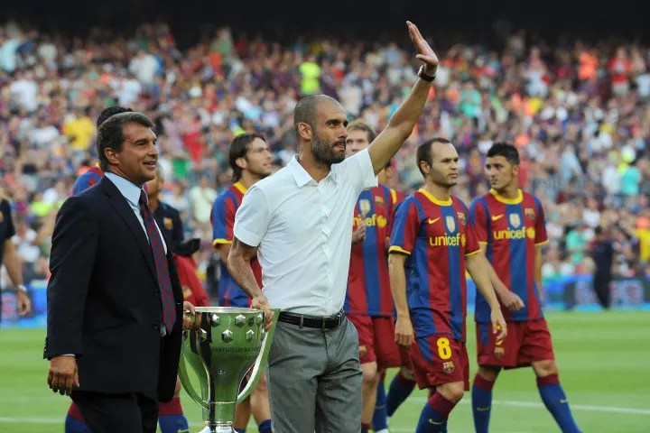 Pep Guardiola's first season was a mightily successful one