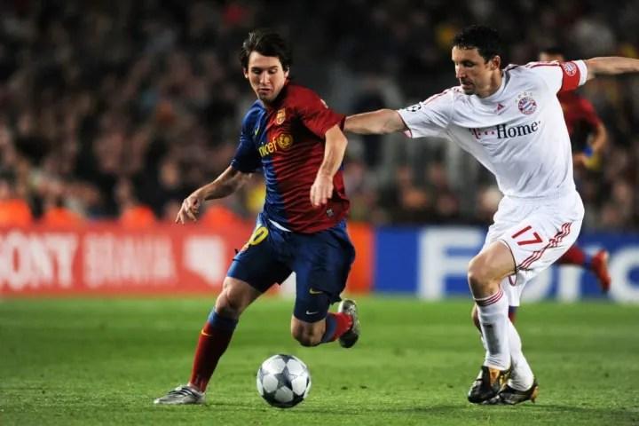 Lionel Messi, Mark van Bommel