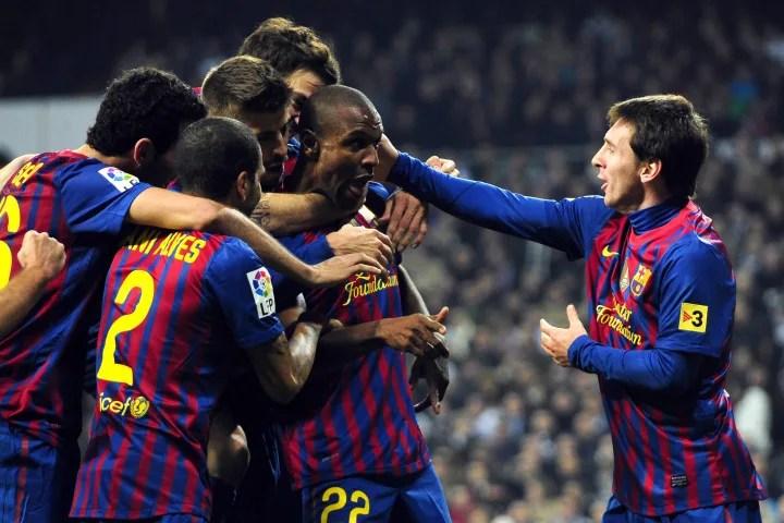 Barcelona's French defender Eric Abidal