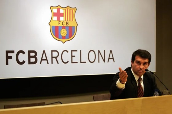 The president of Barcelona, ​​Joan Laporta, responds