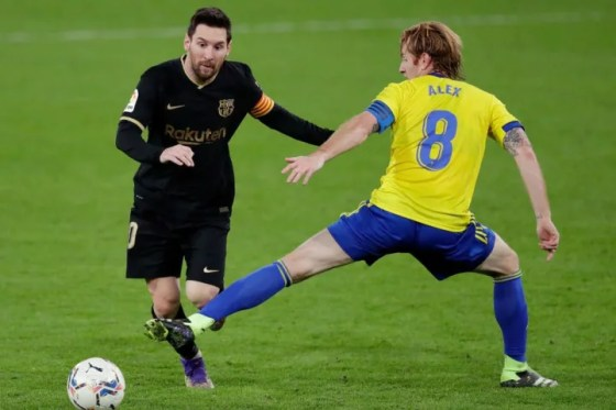 Messi was on the losing side at the weekend when Barça lost 2-1 in Cádiz in La Liga.