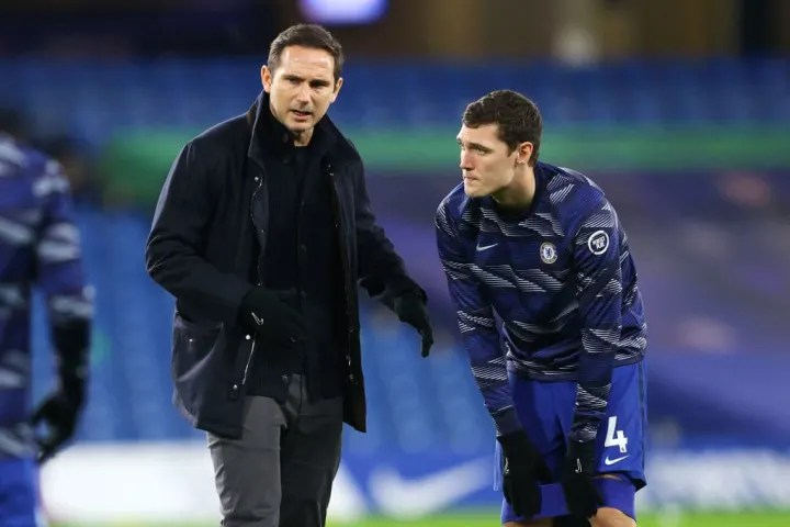 Frank Lampard, Andreas Christensen