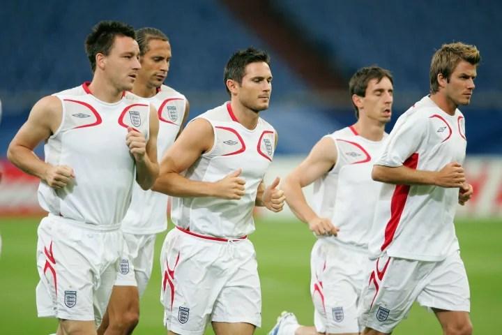 John Terry, David Beckham, Gary Neville, Rio Ferdinand, Frank Lampard