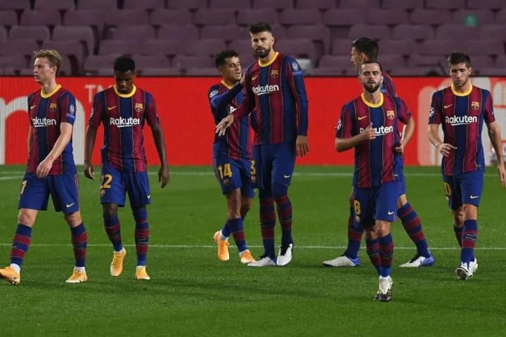 Philippe Coutinho, Miralem Pjanic, Ansu Fati, Gerard Pique