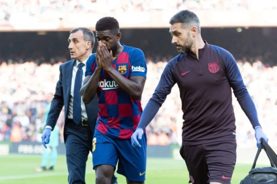 Samuel Umtiti has been held back by injuries in the last two years