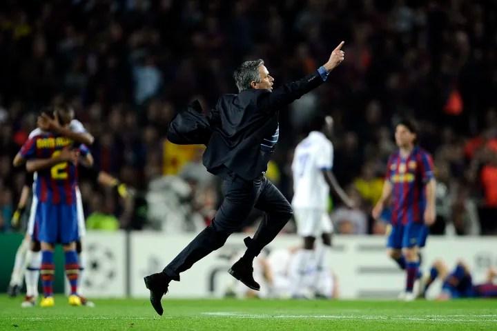 Inter Milan's Portuguese  coach Jose Mou