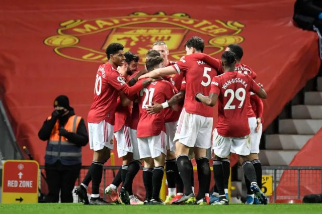 Man Utd are looking to stay ahead in the race for second place