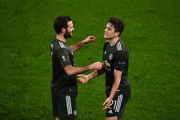 Daniel James feston me Juan Mata