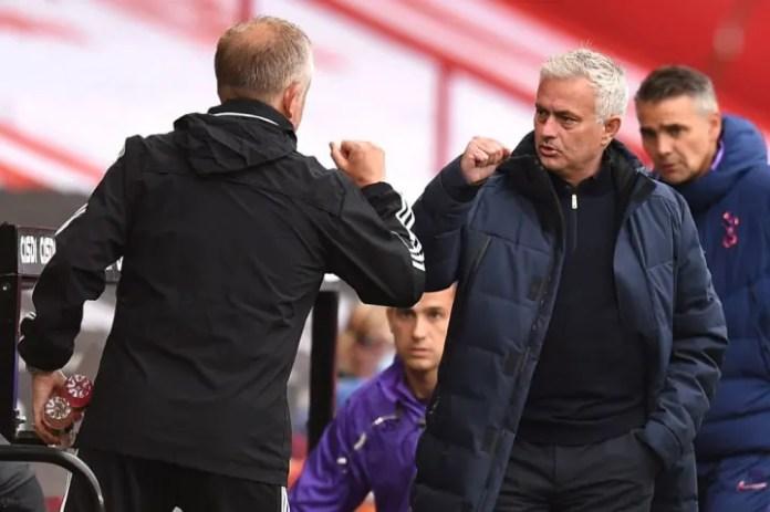Chris Wilder, Jose Mourinho