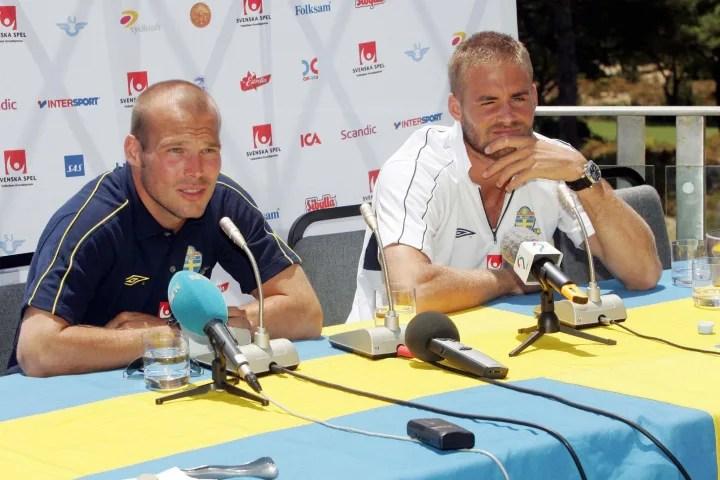 Sweden football team strikers Fredrik Lj