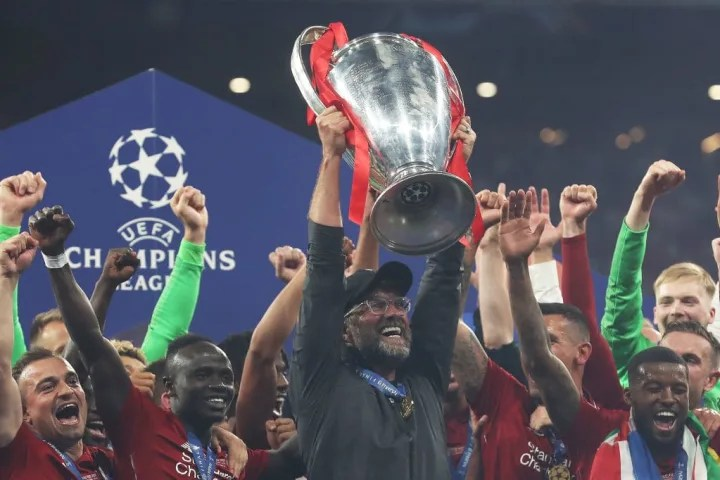 Klopp ha vinto al Liverpool la sua sesta Champions League