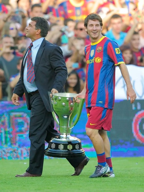 The former president of Barcelona Joan Laport
