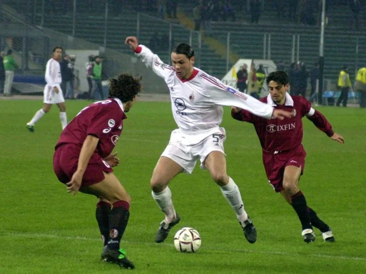 Fernando Redondo of AC Milan in action
