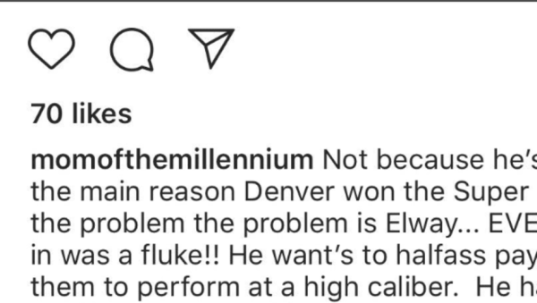 Von Miller's Mom Totally Ripped John Elway on IG   12up