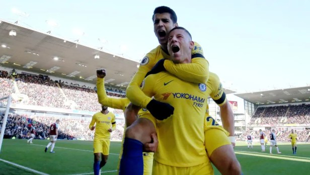 Image result for Burnley vs Chelsea 0-4