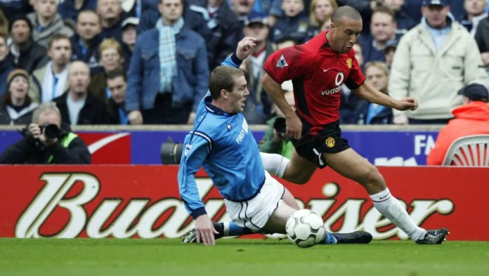 Mikael Silvestre and Richard Dunne