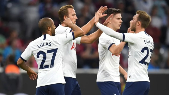 Image result for Tottenham Hotspur beat Bayern Munich on penalties after 2-2 draw