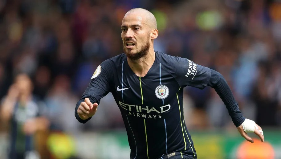 WOLVERHAMPTON, ENGLAND - AUGUST 25: David Silva of Manchester City during the Premier League match between Wolverhampton Wanderers and Manchester City at Molineux on August 25, 2018 in Wolverhampton, United Kingdom. (Photo by Sam Bagnall - AMA/Getty Images)