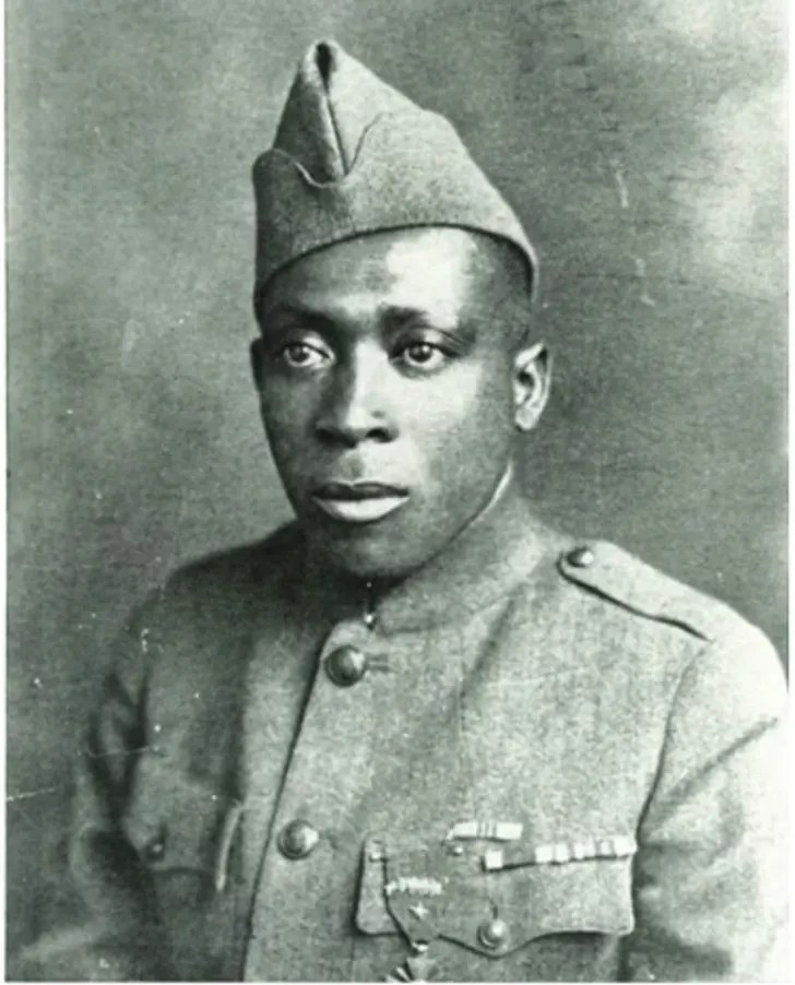 Sergeant William Henry Johnson poses for a photo in uniform