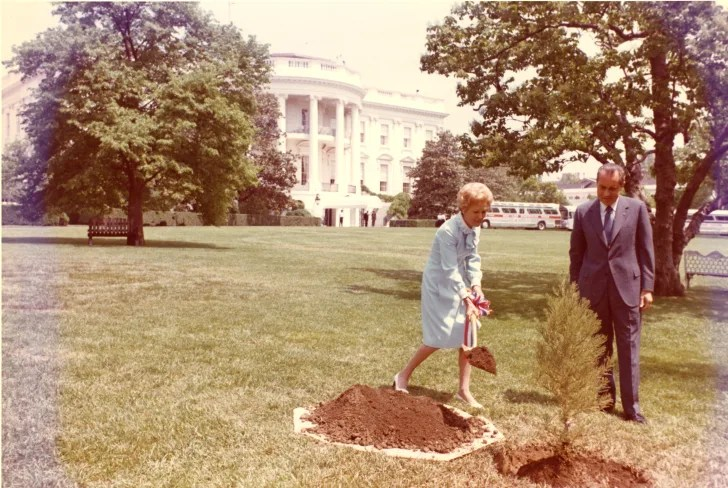 President Nixon and his wife.