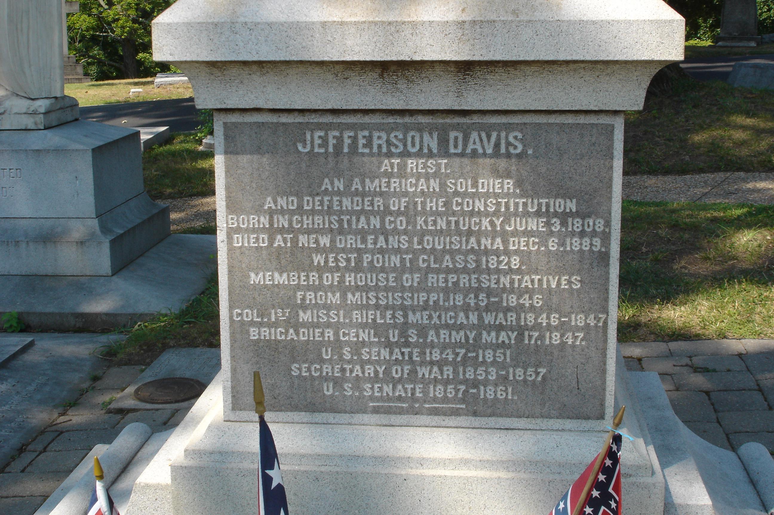Jefferson Davis Grave In Hollywood Cemetery