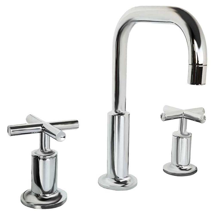 kohler k 14406 3 cp purist widespread bathroom sink faucet low gooseneck cross handles polished chrome